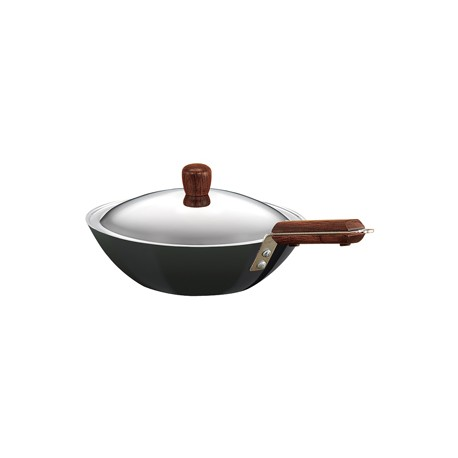 Futura Hard Anodised Deep Fry Pan  2.5 L  ( with SS lid )