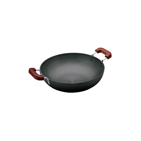 Futura Hard Anodised Deep Fry Pan 7.5 L ( With 2 Short Handles)