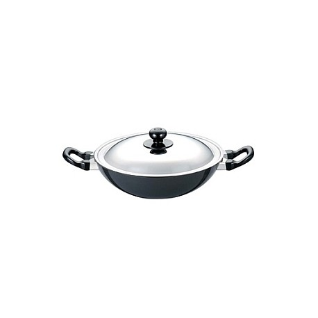 Futura Non Stick Deep Fry Pan 2.5L With SS Lid ( Kadhai )