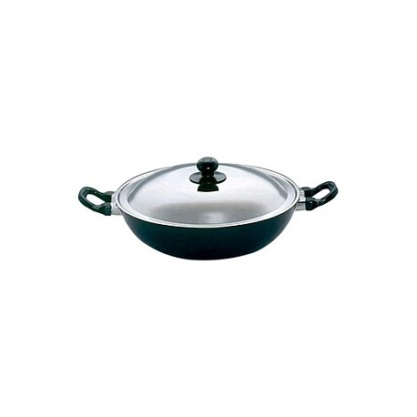 Futura Non Stick Deep Fry Pan 4 L With SS Lid ( Kadhai )