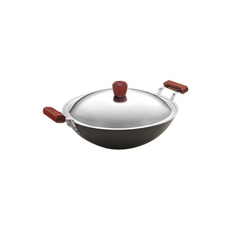 Futura Hard Anodised Deep Fry Pan 5 L  ( With SS lid )