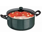 Futura Hard Anodised Stewpot 5 Litre With Glass Lid