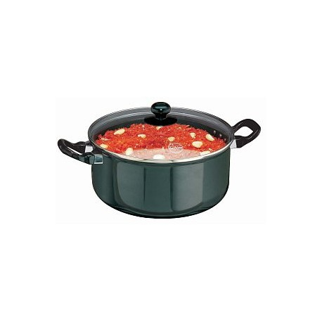 Futura Hard Anodised Cook n Serve Stewpot 5 L (Glass With Lid)