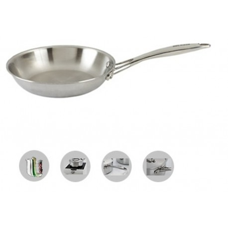Alda Triply Stainless Steel Fry Pan 20 Cm