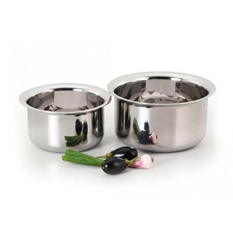 Alda Triply Stainless Steel Patilas Set 14 Cm 1ltr