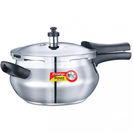 Prestige Stainless Steel Deluxe Pressure Junior Handi New - Alpha Base (4.4 Litre)