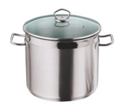 Vinod StockPot With Glass/Stainless Steel Lid 22cm (6.1 Lt)