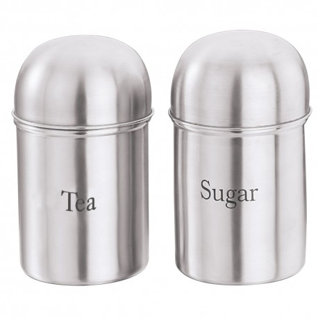 Kraft High Dome Canister Tea/Sugar 2Pcs Set
