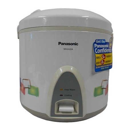 Panasonic Electric Rice Cooker With Steaing Feature 2.2 Litre - SRKA22AR