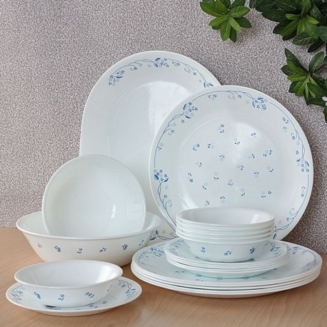 Corelle Essential Series Dinner Set 21 Pcs (Provincial Blue)