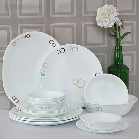 Corelle Essential Series Dinner Set 21 Pcs (Circle)