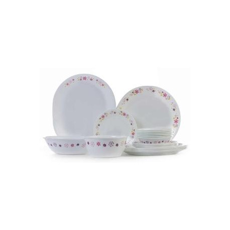 Corelle Dinner Set 21 Pcs (Floral Fantasy)