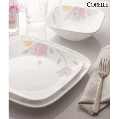 Corelle Square Dinner Set 21 Pcs - (Elegant City)