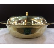 Bronze/Kansa Serving Dish With Lid 22cm