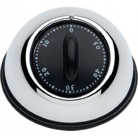 Ghidini Kitchen Essentials Black Mechanical Timer (9 cm)