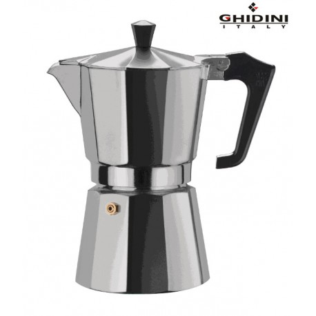 Ghidini Aluminium Coffee Maker 6 Cups Capacity