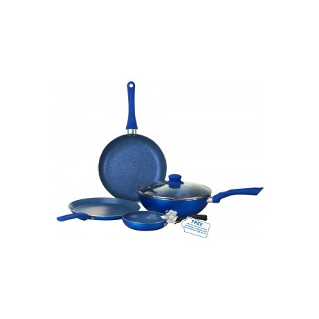 Wonderhcef Royal Velvet Set Of 4 Pc - Induction Base (Blue Color)