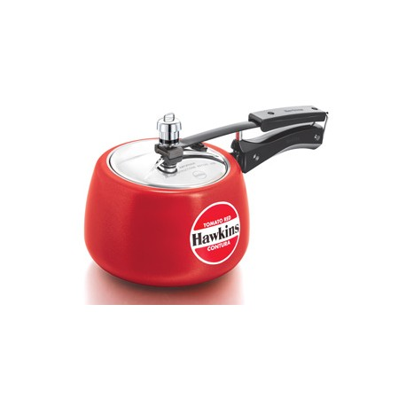 Hawkins Contura Pressure Cooker Ceramic Coated Red (3.0 Litre)