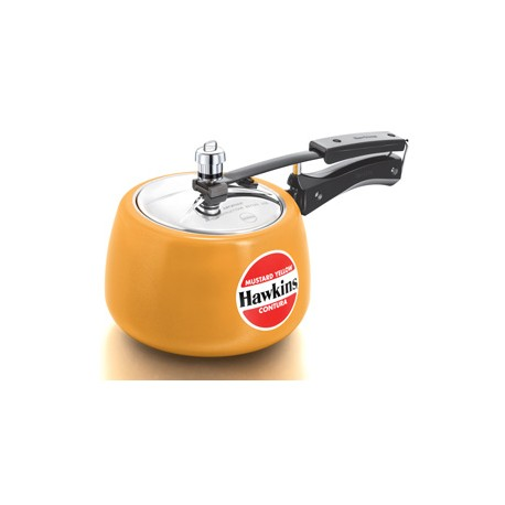 Hawkins Contura Pressure Cooker Ceramic Coated Mustard Yellow (3.0 Litre)