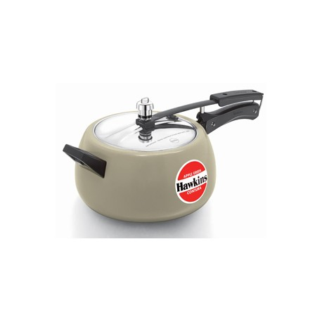 Hawkins Contura Pressure Cooker Ceramic Coated Apple Green (5.0 Litre)