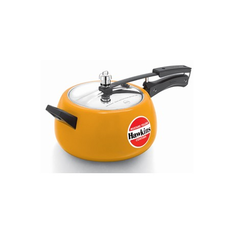 Hawkins Contura Pressure Cooker Ceramic Coated Mustard Yellow (5.0 Litre)