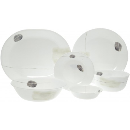 Corelle Dinner Set Smooth Round 21 Pcs