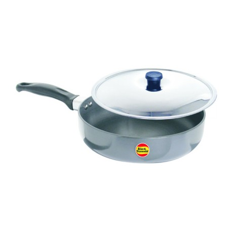Black Diamond Hard Anodized Fry Pan With Stainless Steel Lid 25.5cm