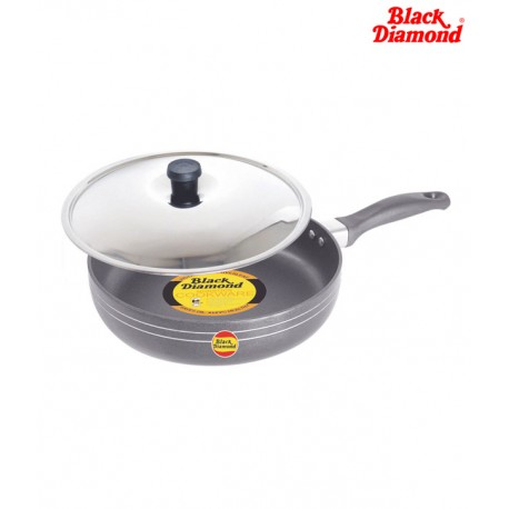 Black Diamond Non-stick Fry Pan With Stainless Steel Lid - F1