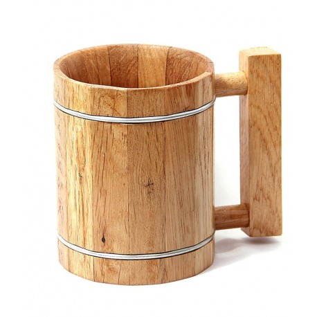 Woodtrim Vintage Natural Wood Classic Beer Mug