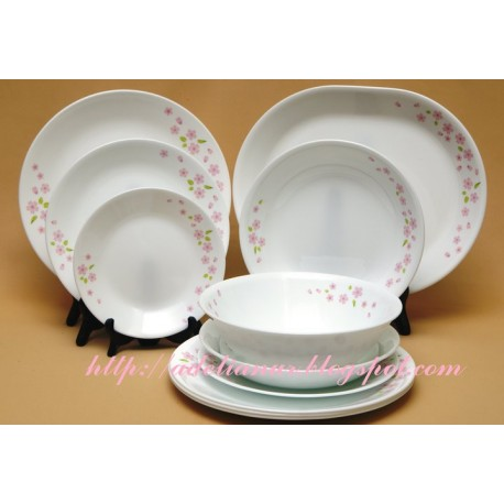Corelle Asia Collection Dinner Set 21 Pcs - (Sakura)