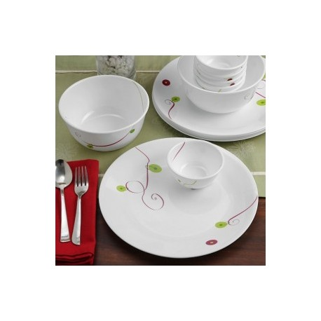 Corelle Dinner Set 21 Pcs - (Royal Sequins)