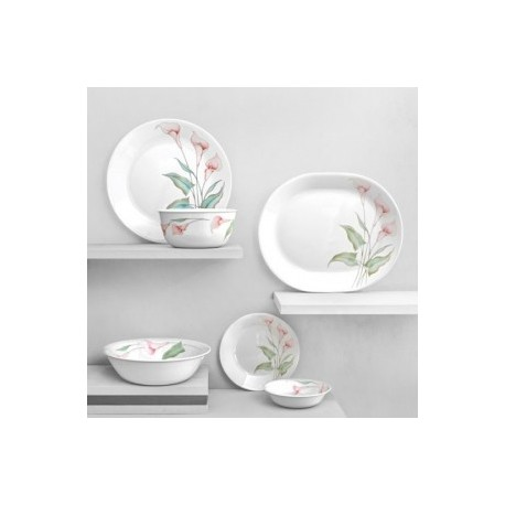 Corelle Vitrelle Glass Dinner Set 21 Pcs - (Lilly Ville)