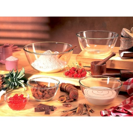 Borosil Mixing Bowls Set of 2pc,(1.3L,1.3L)