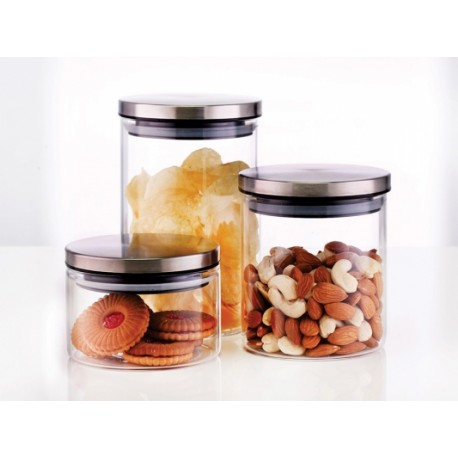 Borosil Classic Jar Set Of 3pc,(300+600+900ml)