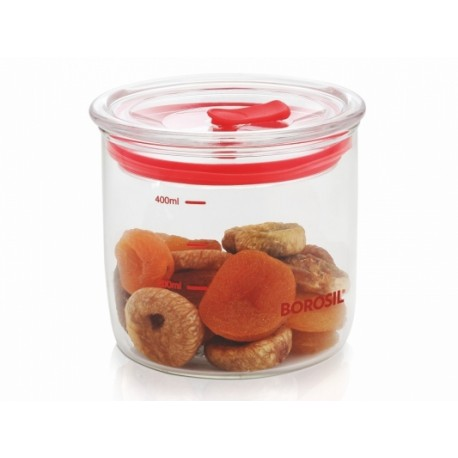 Borosil Classic Trend Jar With Lid Set Of 2pc,(450+450ml)