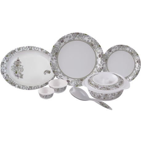 Servewell Round Dinner Set Royal Paisley 31pc