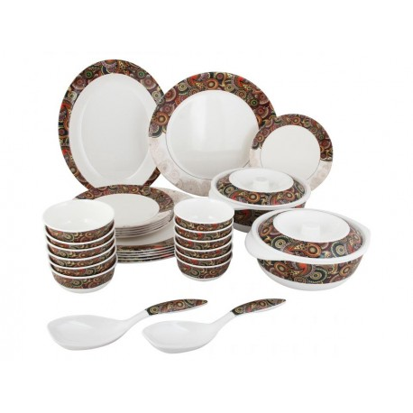 Servewell Round Dinner Set Tribal Paisley 31pc