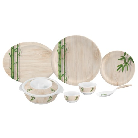 Servewell Round Dinner Set Bamboo Delite 31pc