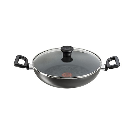 Tefal Kadhai Non Stick 28cm, With Glass Lid, Delicia