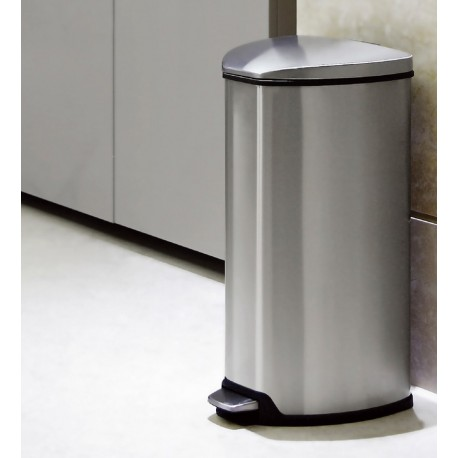 Obsessions Grace High Quality Brushed Stainless Steel Eko Step Bin 12 Liter