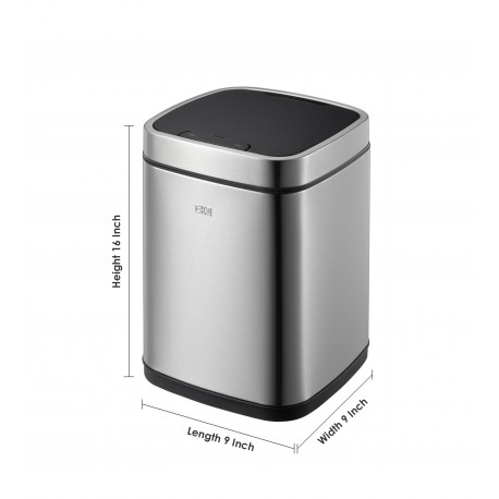 Eko Dustbin Eco Smart Sensor Bin 6L, by Obsessions