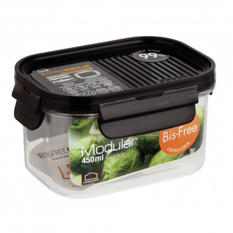 Lock & Lock Modular Container New Tritan Bisfree 450ml, (LBF402)