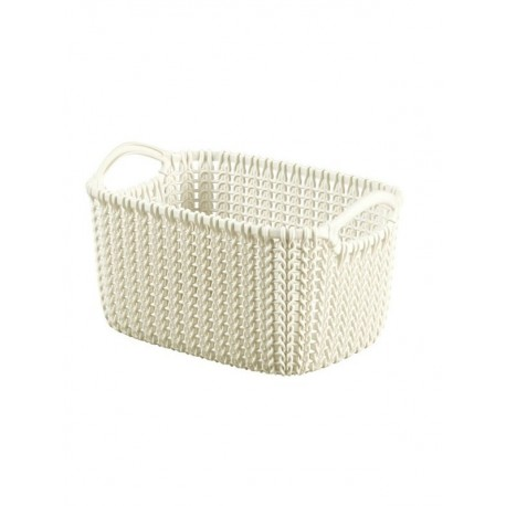 Curver Basket Rectangular Knit 6.0 Litre, (03675)