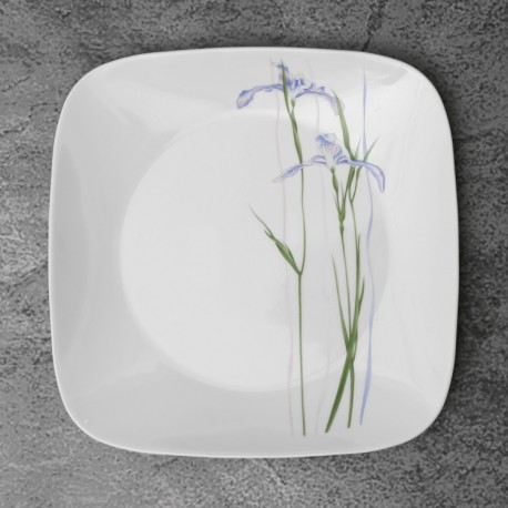 Corelle Shadow Iris Full Plate 6pc (Square)