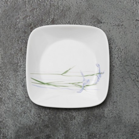 Corelle Shadow Iris Small Plate 6pc (Square)