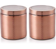 Selvel Stellar Big Stainless Steel Jar, Copper Finish (1350ml x 2)