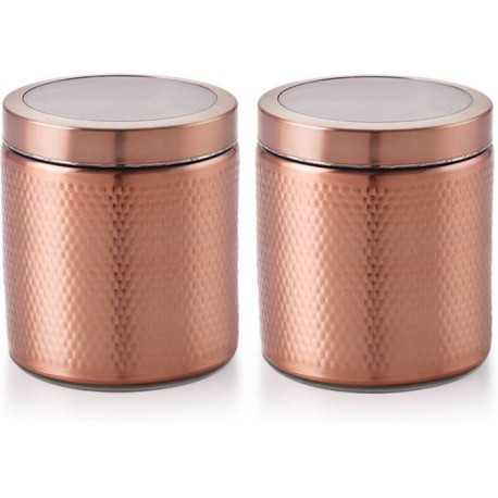 Selvel Stellar Big Stainless Steel Jar, Copper(1350ml x 2)
