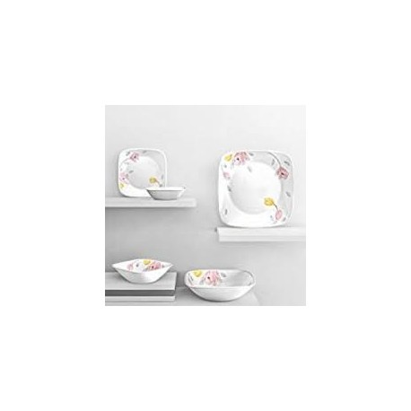 Corelle Elegant City Dinner Set 21 Pcs (Square)