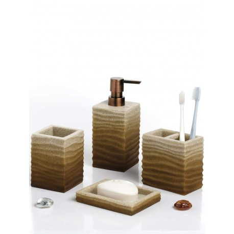 Obsessions Bathroom Set Alvina - Sandstone brown