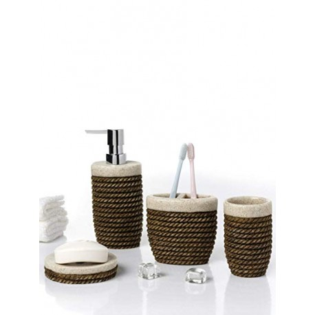 Obsessions Bathroom Set Alvina - Black to White